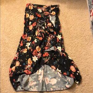 Farm Rio Anthropologie Wrap Maxi Skirt sz M